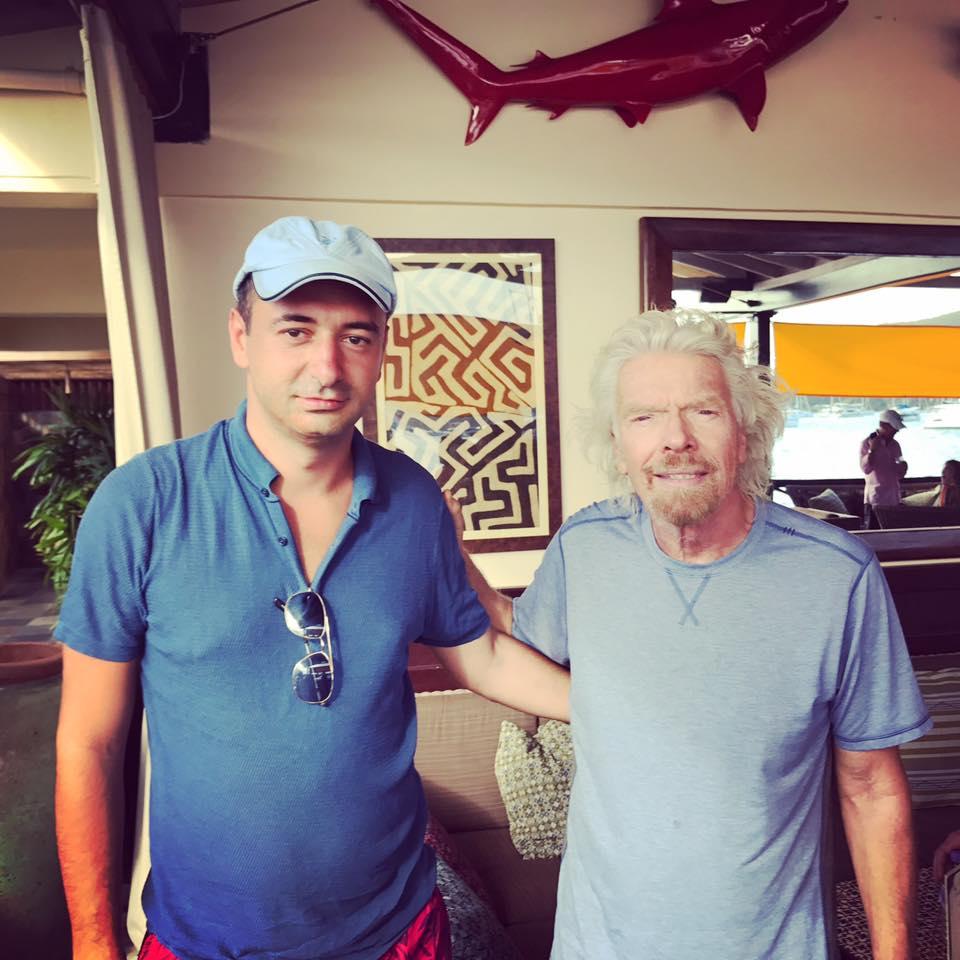 With Sir Richard Branson
